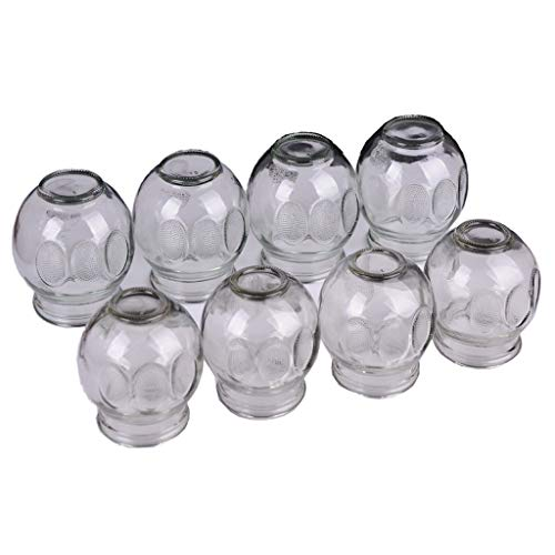 Buy Discount Vacuum Cupping Device 8 cans Glass Cups Household Pull Out Jar with for Facial Body Mas...