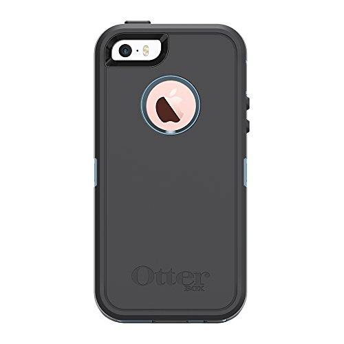OtterBox DEFENDER SERIES for iPhone SE (1st gen - 2016) and iPhone 5/5s - Retail Packaging - STEEL BERRY (WHETSTONE BLUE/SLATE GREY)