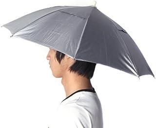 Chapéu de Guarda-chuva, Romacci Esportes ao ar livre dobrável Golfe Pesca Camping Sun Brolly Chapéu Guarda-chuva Boné Azul
