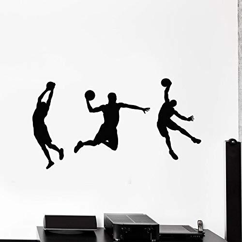 Moda Etiqueta de La Pared Etiqueta de La Pared Jugador de Baloncesto Juego Bola Deporte Vinilo Estadio Decoración   Art Deco para la motivación y la inspiración
