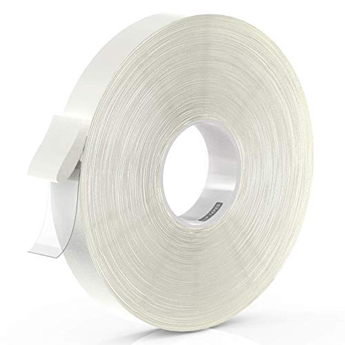 LLPT Double Sided Tape Clear Acrylic Strong Mounting Tape 1 Inch x 550 Inch Multiple Sizes Residue Free Waterproof Outdoor Indoor Adhesive(WA150)