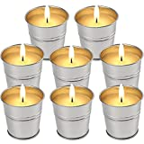 LucaSng Citronella Candles Outdoor 2 OZ 8 Pack Outside Indoor for Party Patio BBQ Deck Lanai Garden Yard Home Balcony Camping
