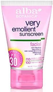 Alba Botanica Very Emollient Facial Sunscreen SPF 30 4 oz (Pack of 2)