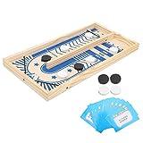 Juego de mesa, Fast Sling Puck Ganador de ritmo de batalla de escritorio de madera para juegos de fiesta familiar de más de 3 años