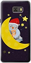Innovedesire Cute Sleepy Owl Moon Night Funda Carcasa Case para Samsung Galaxy C9 Pro