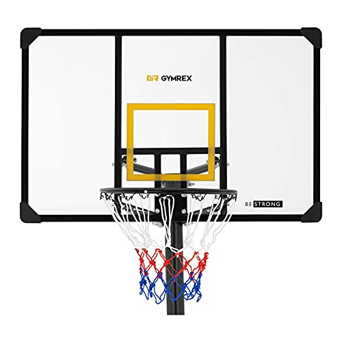 Gymrex Tabela de Basquetebol Suporte 230-305 cm GR-BS14