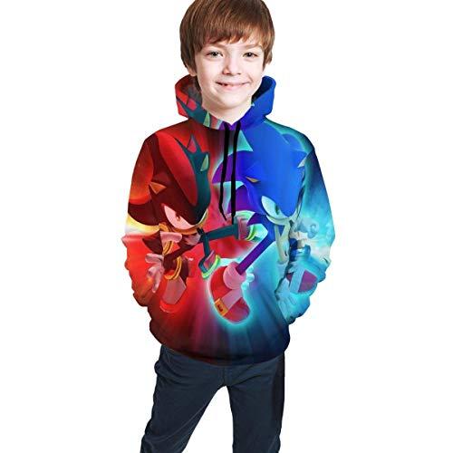HGdggvd Sonic The Hedgehog Hoodie Jungen Mädchen Kinder 3D-Druck Unisex Pullover Sweatshirts
