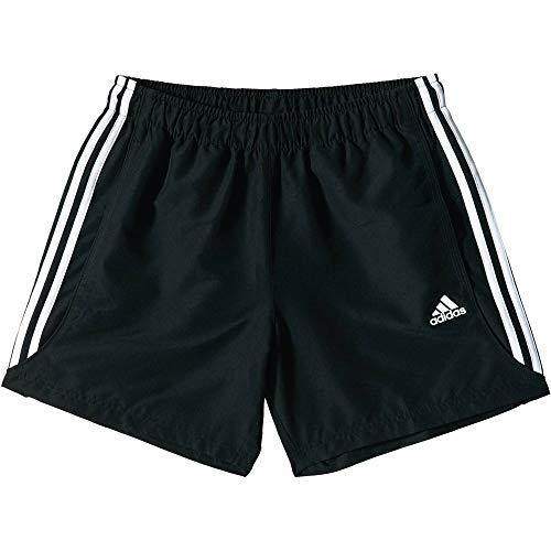 adidas Herren Trainingsshorts Sport Essentials 3-Streifen Chelsea, schwarz/weiß, L, S88113