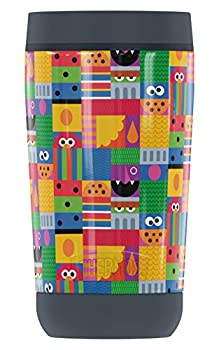 Sesame Street Abstract Art Blocks GUARDIAN COLLECTION BY THERMOS Stainless Steel Travel Tumbler Vacuum insulated & Double Wall 12oz