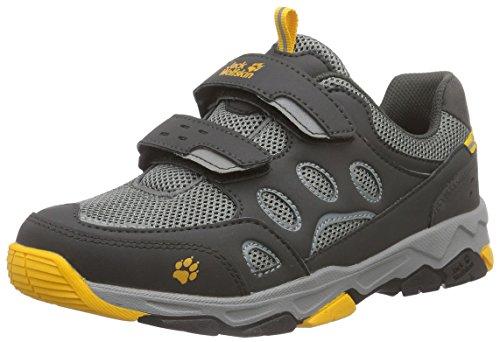 Jack Wolfskin Unisex-Kinder MTN Attack 2 Low VC K Trekking- & Wanderhalbschuhe, Grau (Burly Yellow 3800), 26