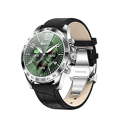 zyz LW09 Smart Watch, Pantalla Táctil Completa, IP68 Impermeable, Monitor De Ritmo Cardíaco, Reloj De Moda Deportivo Fitness,Plata