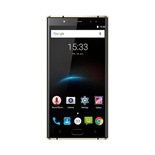 OUKITEL K3-5,5' 4G FDD-LTE Smartphone Libres, Android 7.0 Octa Core 4GB+64GB, 6000mAh, 16MP+2MP 4 Cámaras, Dual SIM, OTG, Carga Rápida, Frente ID de Huella Dactilar, Negro Teléfono Móvil