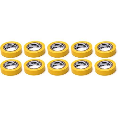 10x Elektriker Klebeband Isolierband Isoband - Gelb 15mm x 10m OKKO
