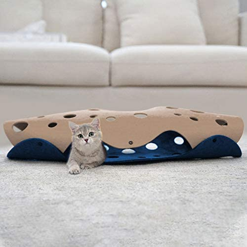 Lifebea Cat Play Tunnel for Indoor Cats - Collapsible Cat Cave Pet Toys, Small Puppy Rabbit Tunnel, Universal Cat Tun...