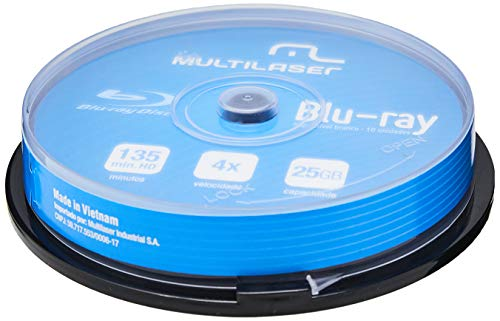 Mídia Dvd-R Multilaser Shrink Blue Ray Pino Com 10 Unidades - DV057