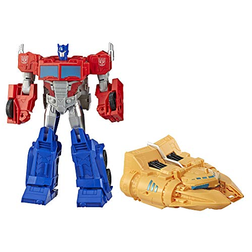Transformers E4218eu5 Toys Cyberverse Spark Armour Optimus Prime Action Figure Combines With Ark Vehicle To Power Up For Kids Ages 6 And Up