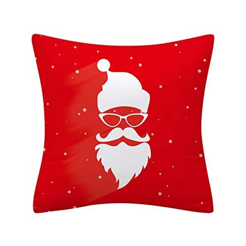 Büro Weihnachten Sofakissen Schlafkissen Begrüßung Der GäSte KissenbezüGe Sofa Throw Kissenbezug Home Decor,Xmas Red Festival Kissen 45 * 45Cm Heiligabend Kissen Dekoration