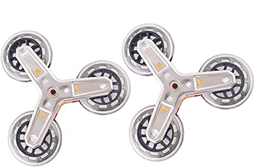 JYV 2PCS Shopping Cart Trolley Casters Luggage Suitcase Rollers Replacement Wheels Pulley Sliding Rollers Wheels Accessories (Color : Stainless Steel)