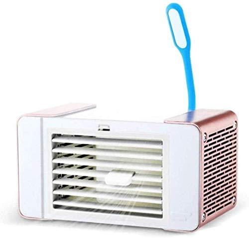 buyaolian Máquina De Ozono,Generador De Ozono Enfriador De Aire Portátil USB Ventilador Portátil con Lámpara De Mesa Pequeña Bajo Nivel De Ruido para Dormitorio Sala De Estar Coche De Oficina con Do