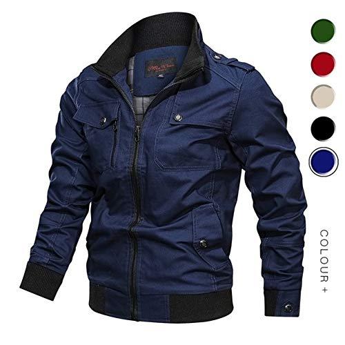 XTCMGZK Kapuzenjacke Jacke Windjacke aus Baumwolle, Cargo-Kleidung für Herren, MGC03 blau, 4XL