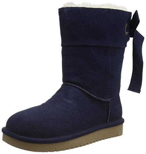 Koolaburra by UGG Women's Koola Bow Short Classic Boot, Insignia Blue, 36 EU