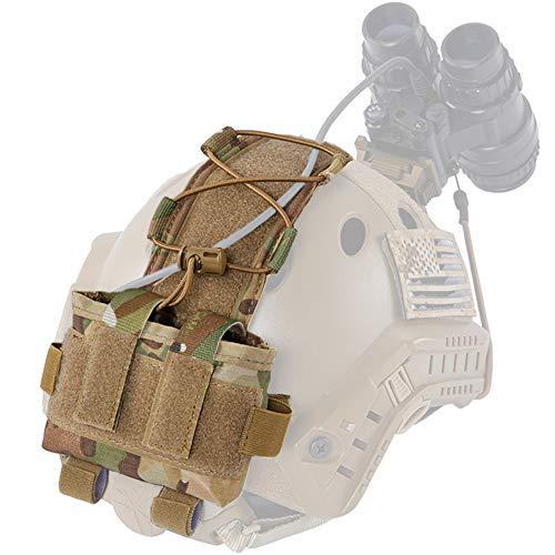 WTZWY Taktische Helmbatterietasche, MK2 Fast Helm NVG Batteriepacket Gegengewichtstasche Balance Gewichtstasche mit Haken-N-Schlaufe für die Jagd auf Airsoft,Mc