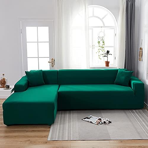 WXQY Sala de Estar Funda de sofá elástica de Color sólido Funda Deslizante elástica Funda de sofá Funda de sillón en Forma de L Funda de sofá A19 2 plazas