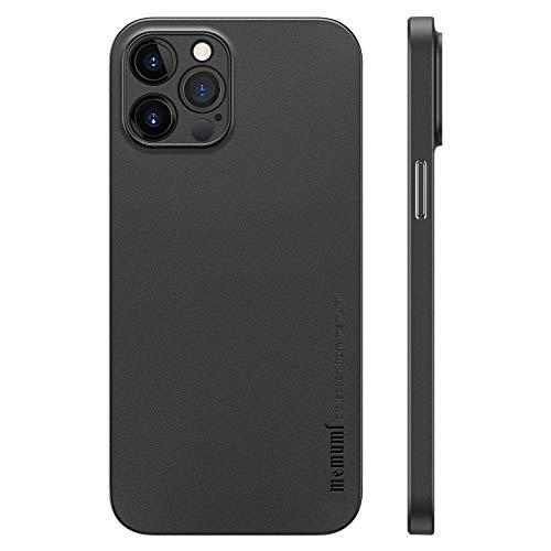 memumi Funda para iPhone 12 Pro MAX Delgado Revestimiento Mate 0.3 mm Ultrafina para iPhone 12 Pro MAX 2020 Funda Protectora Ultra Slim con Anti-Rasguño/Resistente Huellas 6.7 Pulgadas Negro