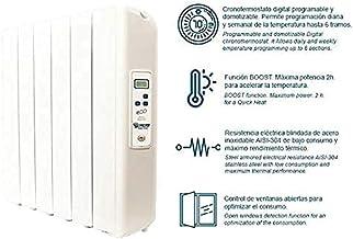 farho Radiador Electrico Eco Green Ultra 660W (4) · Emisor Termico con Termostato Digital Programable 24/7 · Radiadores Electricos Bajo Consumo para Estancias de hasta 12 m² · 20 AÑOS DE GARANTÍA
