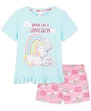 Me To You Pijama Niña, Pijama Unicornio Niña Corto con el Osito Tatty Teddy, Ropa de Niña para Dormir, Regalos para Niñas Edad 2-14 Años (Azul/Rosa, 11-12 años)