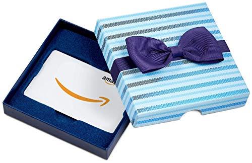 Amazon.de Geschenkkarte in Geschenkbox (Blaue Streifen)
