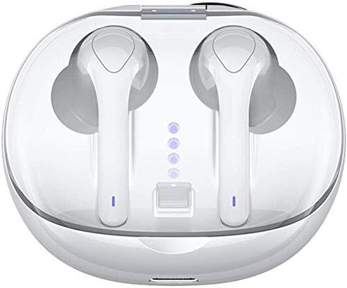 RTUTUR 5.0 Bluetooth se divierten los auriculares estéreo de sonido de graves TWS auriculares de botón sobre el oído Sweatproof Headset, auriculares inalámbrico con micrófono y Estuche cargador for Ru