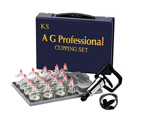 "Professional Cupping Set *Made in Korea* (17 Cups) with Extension Tube($3.00 Value) KS Choi Corp""Made in Korea"""