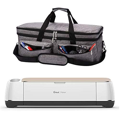 ARSH Tragetasche, kompatibel mit Cricut Explore Air und Maker, Tragetasche, kompatibel mit Cricut Explore Air 2 und Silhouette Cameo 3, ohne Zubehör Grau mit Doppelschicht