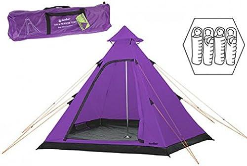 Hydrahalt 4personne Tente tipi Violet Bleu Vert Summit