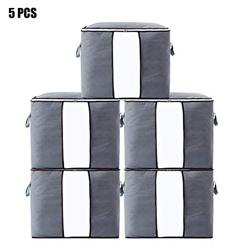 90L Clothes Storage Bags Large Capacity  Duvet Quilt Storage Bag Double Zipper