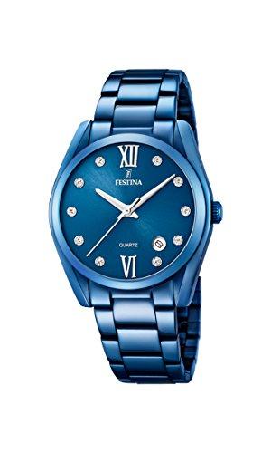 Festina Damen Analog Quarz Uhr mit Edelstahl Armband F16864/5