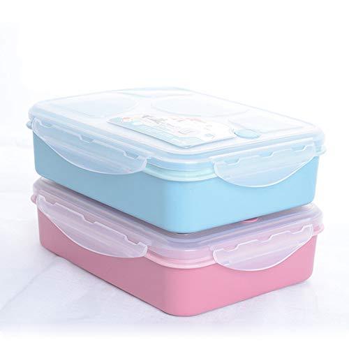 Exca Lunchbox, leuk broodtrommel, draagbaar, geschikt voor de magnetron, bento-doos, lekvrije voedselcontainer van Japanse stijl