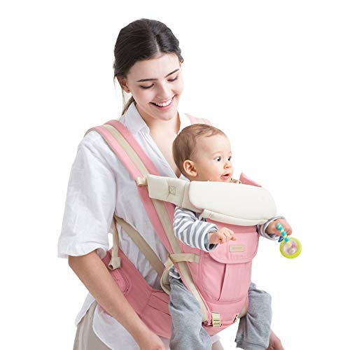 Unichart 360 All Carry Positions Baby Carrier Baby Hip Seat Carrier(Pink)