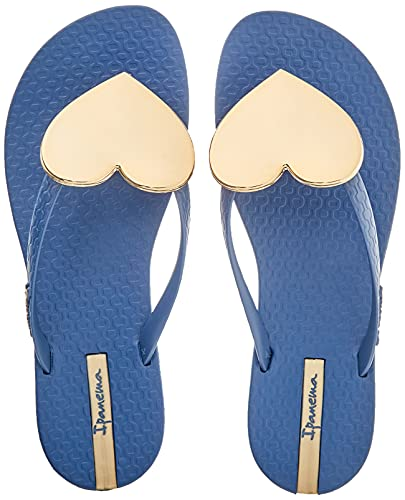 Ipanema Damen Maxi Fashion II FEM Flipflop, Blue/Gold, 38 EU