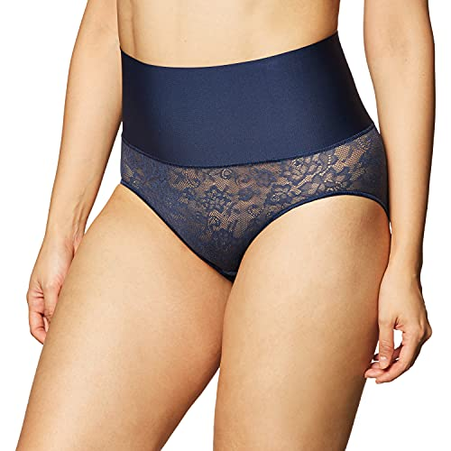 Maidenform womens Tame Your Tummy Shaping Lace With Cool Comfort Dm0051 Shapewear Briefs, Navy Lace, X-Large US