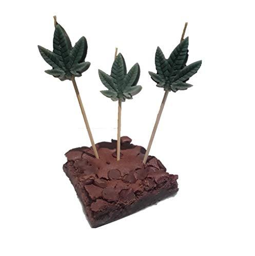 Marijuana Leaf Candles for Marijuana Balloon Parties (Set of 3)