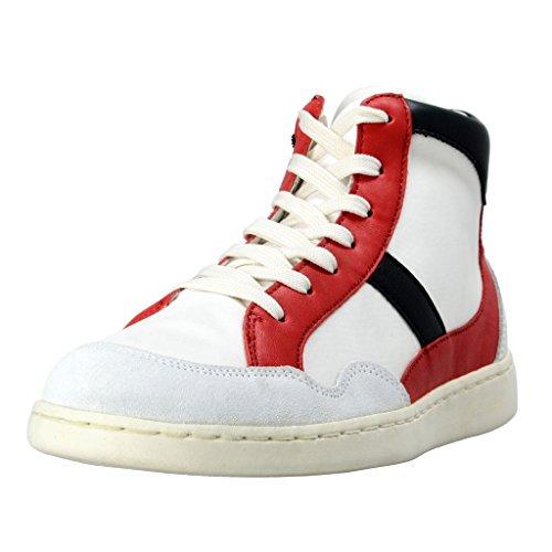 Dolce & Gabbana Women's Canvas Leather Hi Top Fashion Sneakers Shoes US 9 IT 39 Dolce Sz 5.5;