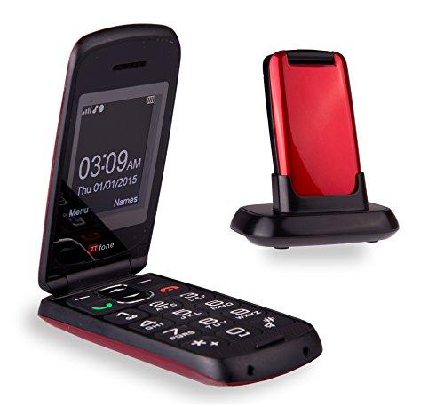 TTfone Star Telefono Cellulare con Tasti Grandi, Rosso