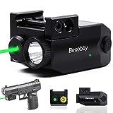 Benobby Green Laser Sight,300 lm Strobe Flashlight + Laser Sight for Pistol,Compact Rail Mount Tactical Flashlight, USB...