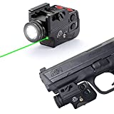 Lasercross Tactical Flashlight Laser Sight Combo,Bright Green Laser Light Pistol Sights Strobe Function Aluminum Structure Gun Sight for Handgun,Shotguns,Rifle with Standard 21mm Picatinny Rail