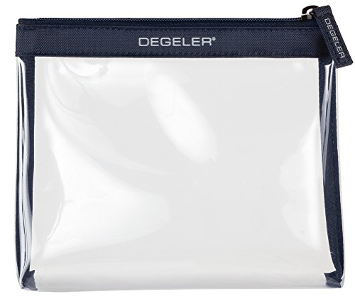 DEGELER フライト旅行&小旅行用 クリアバッグ透明コスメポーチチャック付きで開閉可能なコスメポーチ液体物を機内持ち込み荷物に持参するのに最適