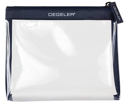 DEGELER® Transparente Kulturtasche |Für Flüssigkeiten & Kosmetik im Handgepäck & Flugzeug| verschließbare Kosmetiktasche| auch für die Handtasche als Make-up Schminktasche & Kulturbeutel geeignet