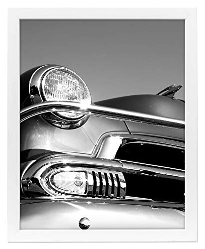 Americanflat Poster in White with Polished Plexiglass - Horizontal and Vertical Formats with Included Hanging Hardware, 18x24 (measures without Frame)