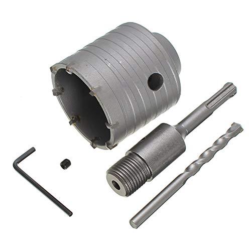 Bostar SDS Plus - Juego de brocas para cortar agujeros de sierra perforadoras para hormigón de pared de piedra de cemento 30/40/50 mm